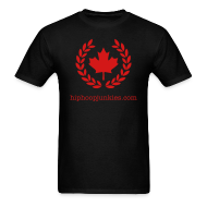 T-Shirts ~ Men's T-Shirt ~ HHJ - The Leaf - Black & Red