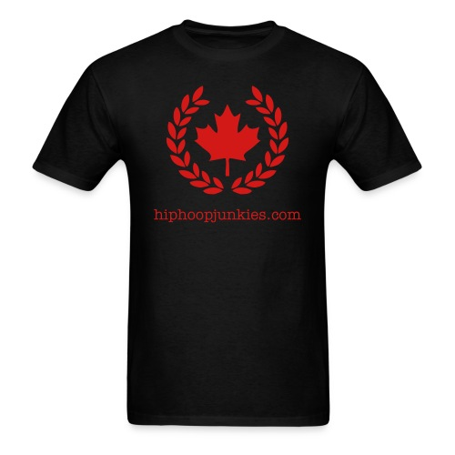 HHJ - The Leaf - Black & Red - Men's T-Shirt