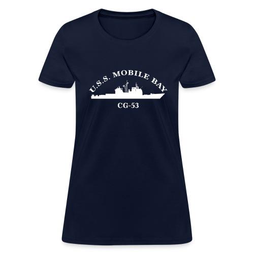USS MOBILE BAY CG-53 Arc Tee - Women's - Women's T-Shirt