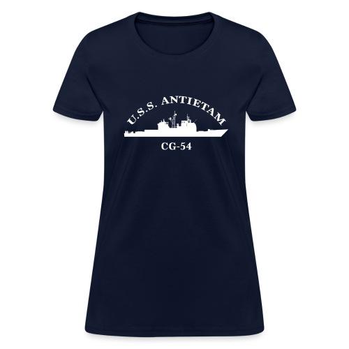 USS ANTIETAM CG-54 WOMENS ARC TEE - Women's T-Shirt