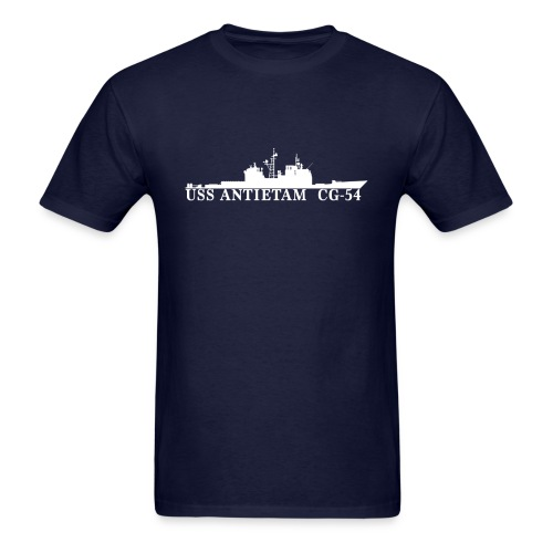 USS ANTIETAM CG-54 WATERLINE TEE - Men's T-Shirt