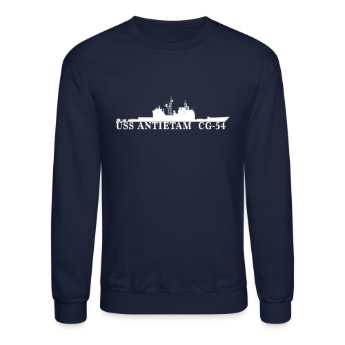 USS ANTIETAM CG-54 WATERLINE SWEATSHIRT - Crewneck Sweatshirt