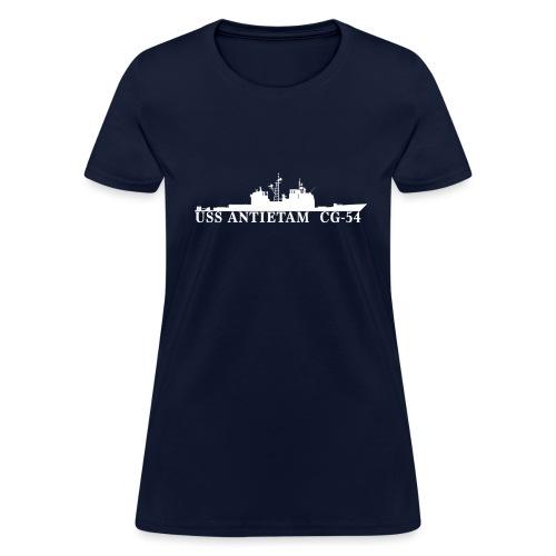 USS ANTIETAM CG-54 WOMENS WATERLINE TEE - Women's T-Shirt