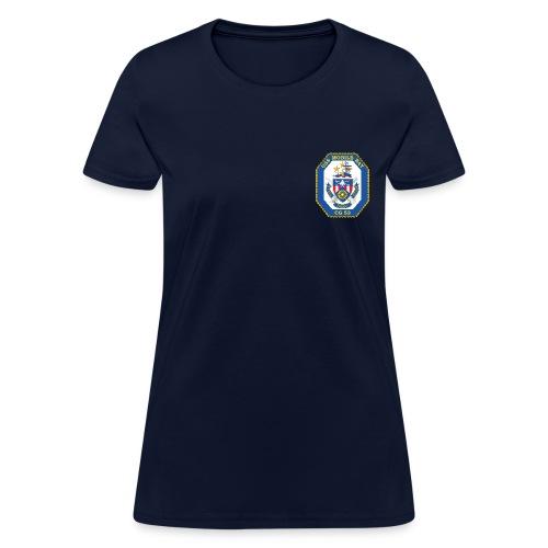 USS MOBILE BAY (CG-53) Crest Tee - Women's - Women's T-Shirt