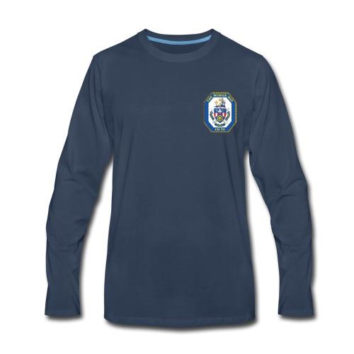 USS MOBILE BAY (CG-53) Crest Long Sleeve - Men's Premium Long Sleeve T-Shirt