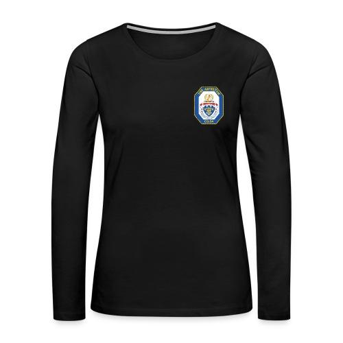 USS ANTIETAM CG-54 WOMENS CREST LONG SLEEVE - Women's Premium Long Sleeve T-Shirt