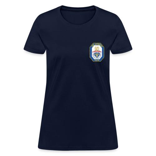 USS ANTIETAM CG-54 WOMENS CREST TEE - Women's T-Shirt