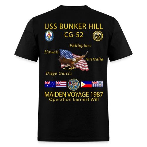 USS BUNKER HILL CG-52 1987 CRUISE SHIRT - Men's T-Shirt