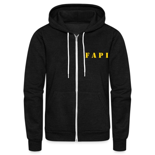 FAPI Logo Zip Hooded Sweatshirt - Unisex Fleece Zip Hoodie