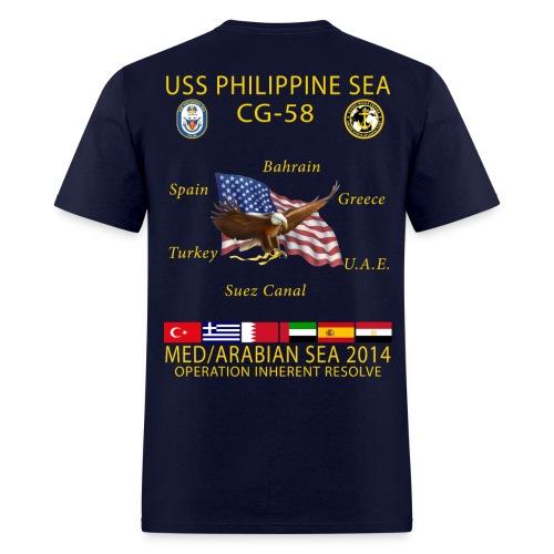 USS PHILIPPINE SEA CG-58 2014 CRUISE SHIRT - Men's T-Shirt