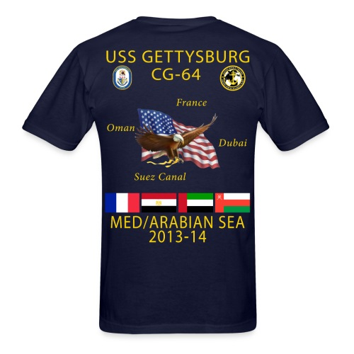 USS GETTYSBURG CG-64 2013-14 CRUISE SHIRT - Men's T-Shirt