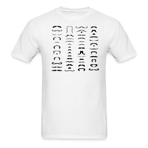 mustache question - Men's T-Shirt