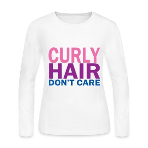 Curly Hair Don't Care - Women's Long Sleeve Jersey T-Shirt