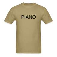 T-Shirts ~ Men's T-Shirt ~ Piano