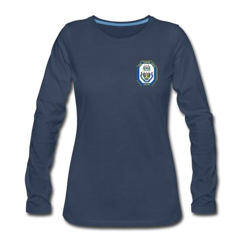USS LEYTE GULF CG-55 Crest Long Sleeve - Women's - Women's Premium Long Sleeve T-Shirt