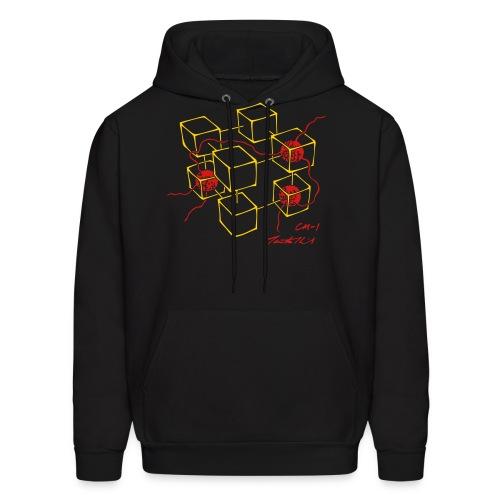CM-1 men's hoodie black gold/red - Men's Hoodie