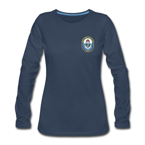 USS LAKE CHAMPLAIN CG-57 Crest Long Sleeve - Women's - Women's Premium Long Sleeve T-Shirt