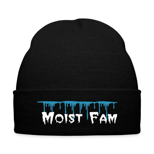 Moist Fam Beanie - Knit Cap with Cuff Print