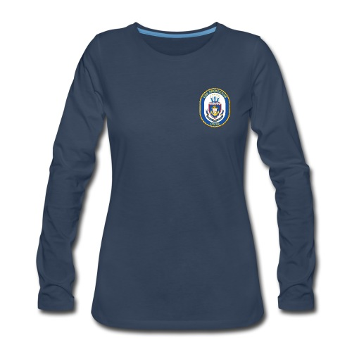USS PRINCETON CG-59 Crest Long Sleeve - Women's - Women's Premium Long Sleeve T-Shirt