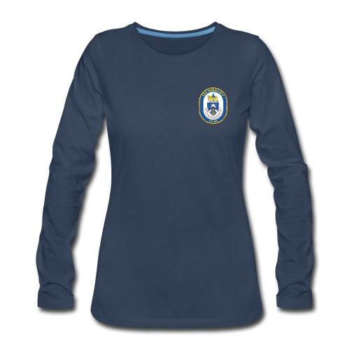 USS NORMANDY CG-60 Crest Long Sleeve - Women's - Women's Premium Long Sleeve T-Shirt