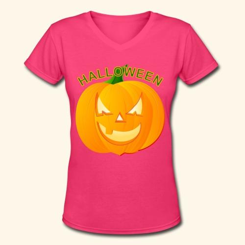 Halloween - Women's V-Neck T-Shirt