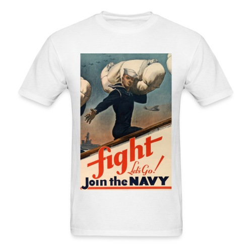 Join The Navy By Sergio Vargas Jr. - Men's T-Shirt