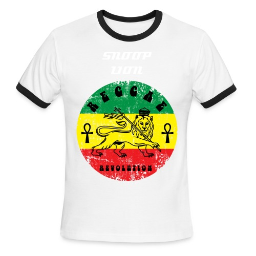 RED - RASTAFARI SNOOP LION - Men's Ringer T-Shirt