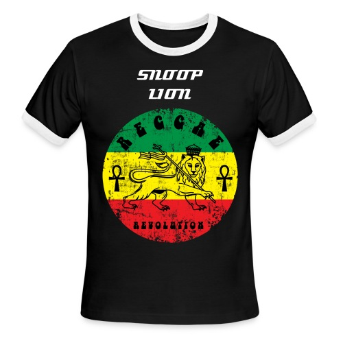 RASTAFARI SNOOP LION - Men's Ringer T-Shirt