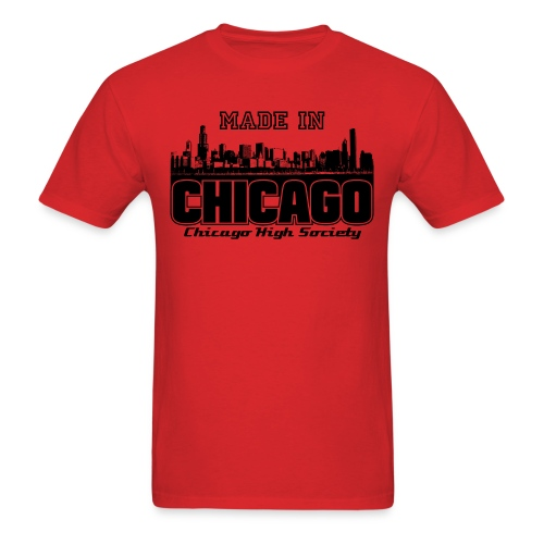 Made In Chicago By Sergio Vargas Jr. - Men's T-Shirt
