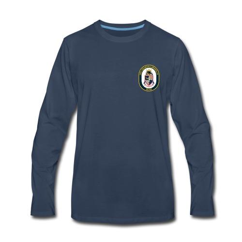 USS CHANCELLORSVILLE CG-62 Crest Long Sleeve - Men's Premium Long Sleeve T-Shirt