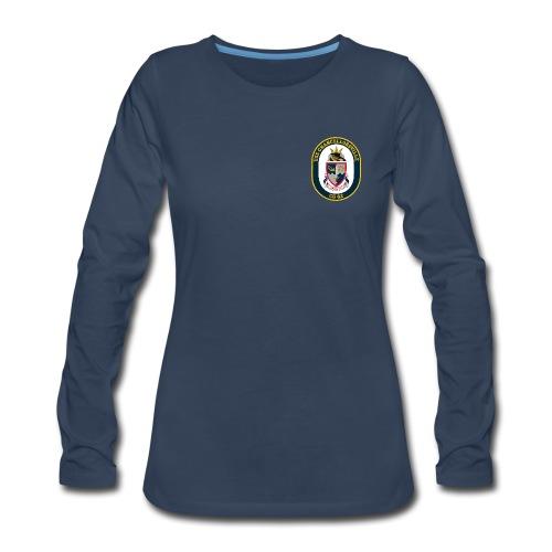 USS CHANCELLORSVILLE CG-62 Crest Long Sleeve - Women's - Women's Premium Long Sleeve T-Shirt