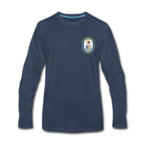 USS GETTYSBURG CG-64 Crest Long Sleeve - Men's Premium Long Sleeve T-Shirt