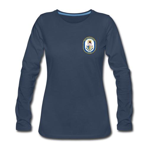 USS GETTYSBURG CG-64 Crest Long Sleeve - Women's - Women's Premium Long Sleeve T-Shirt