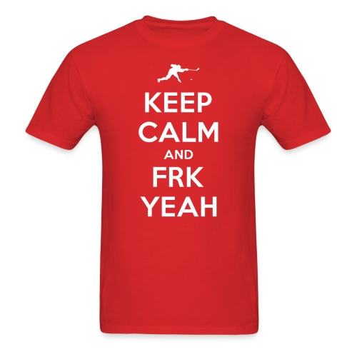 Keep Calm and FRK YEAH - Men's Tee (Red) - Men's T-Shirt