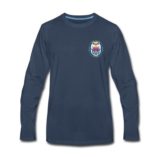 USS ANZIO CG-68 Crest Long Sleeve - Men's Premium Long Sleeve T-Shirt