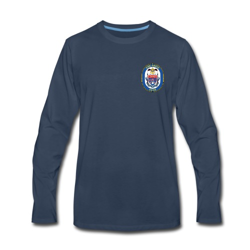 USS ANZIO CG-68 Crest Long Sleeve - Men's Premium Long Sleeve T-Shirt
