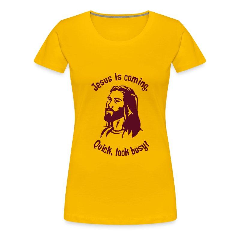 JESUS IS COMING - Women's Premium T-Shirt