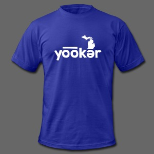 Yooker Euchre  - Men's T-Shirt by American Apparel