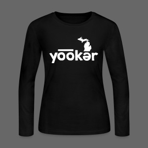Yooker Euchre  - Women's Long Sleeve Jersey T-Shirt