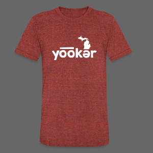 Yooker Euchre  - Unisex Tri-Blend T-Shirt by American Apparel