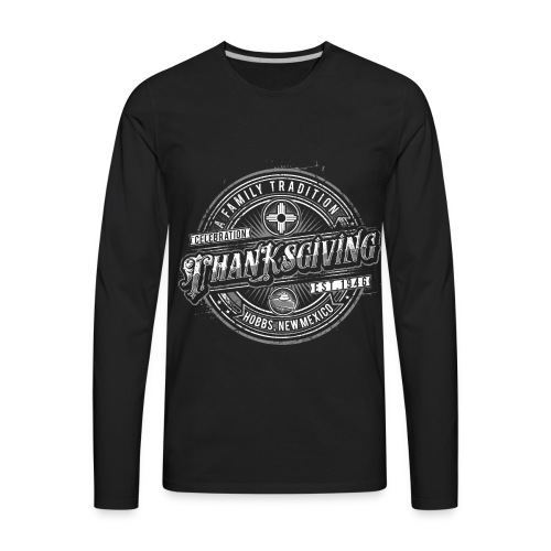 Black Long sleeved Classic with Gray Logo - Men's Premium Long Sleeve T-Shirt
