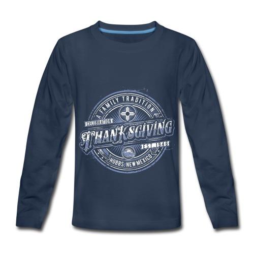 Kiddie Classico Dark blue with blue logo - Kids' Premium Long Sleeve T-Shirt