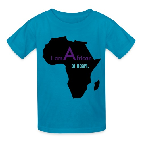 I Am African At Heart (Kid's) - Kids' T-Shirt
