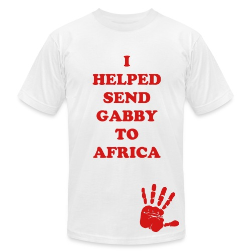 I Helped Send Gabby To Africa (Men's) - Men's Fine Jersey T-Shirt