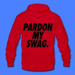 Pardon My Swag Hoodies - stayflyclothing.com - Unisex Fleece Zip Hoodie by American Apparel