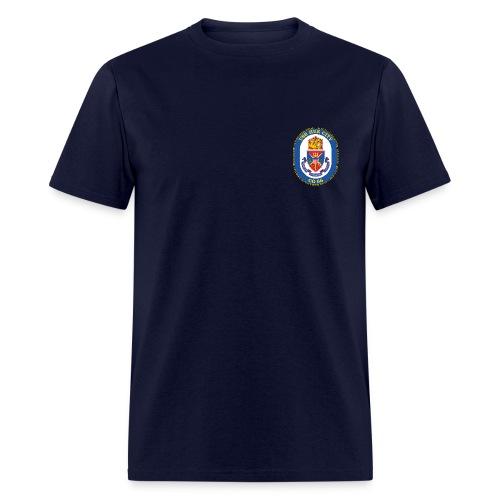 USS HUE CITY CG-66 Crest Tee - Men's T-Shirt