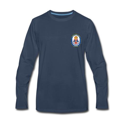 USS HUE CITY CG-66 Crest Long Sleeve - Men's Premium Long Sleeve T-Shirt