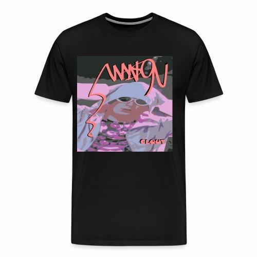 Clout Photo tee (Black/Salmon) - Men's Premium T-Shirt