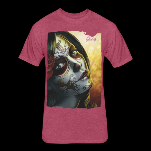 020 Sugar Skull - Fitted Cotton/Poly T-Shirt by Next Level