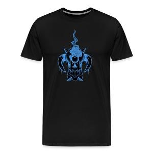 Steaming Skull T-Shirts - Men's Premium T-Shirt